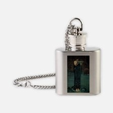 Circe Invidiosa by JW Waterhouse Flask Necklace
