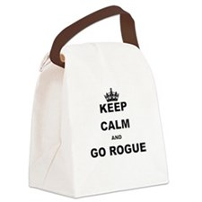 KEEP CALM AND GO ROGUE Canvas Lunch Bag