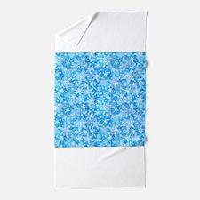 Feathery Snowflakes Beach Towel
