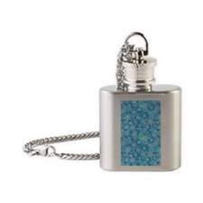 Feathery Snowflakes Flask Necklace