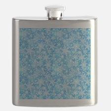 Feathery Snowflakes Flask