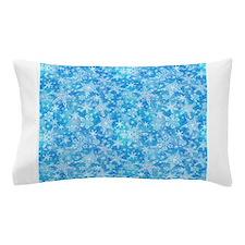 Feathery Snowflakes Pillow Case