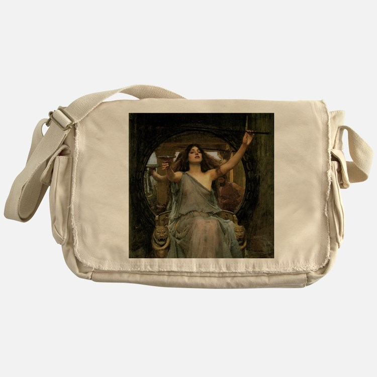 Circe by JW Waterhouse Messenger Bag