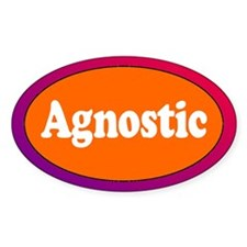 AGNOSTIC Oval Decal