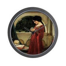 Crystal Ball by JW Waterhouse Wall Clock