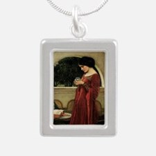 Crystal Ball by JW Water Silver Portrait Necklace