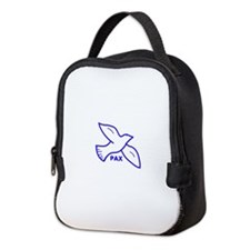 Dove with Pax (Latin for peace) Neoprene Lunch Bag