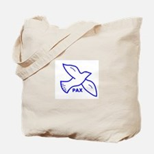 Dove with Pax (Latin for peace) Tote Bag
