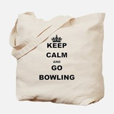 KEEP CALM AND GO BOWLING Tote Bag
