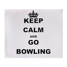 KEEP CALM AND GO BOWLING Throw Blanket