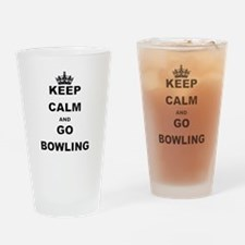 KEEP CALM AND GO BOWLING Drinking Glass