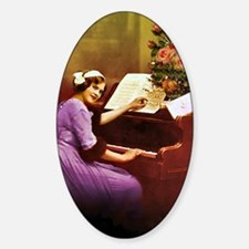 Girl Playing Piano Decal