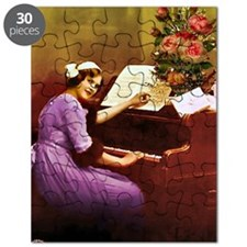 Girl Playing Piano Puzzle