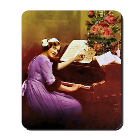 Girl Playing Piano Mousepad