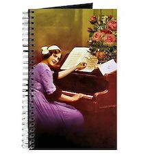Girl Playing Piano Journal