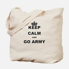 KEEP CALM AND GO ARMY. Tote Bag