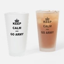 KEEP CALM AND GO ARMY. Drinking Glass