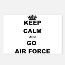 KEEP CALM AND GO AIRFORCE Postcards (Package of 8)