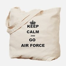 KEEP CALM AND GO AIRFORCE Tote Bag
