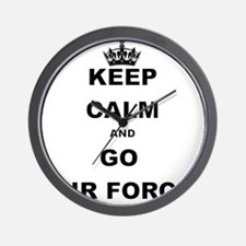 KEEP CALM AND GO AIRFORCE Wall Clock