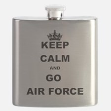 KEEP CALM AND GO AIRFORCE Flask