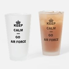 KEEP CALM AND GO AIRFORCE Drinking Glass