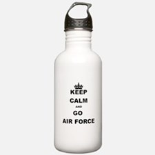 KEEP CALM AND GO AIRFORCE Water Bottle