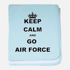 KEEP CALM AND GO AIRFORCE baby blanket