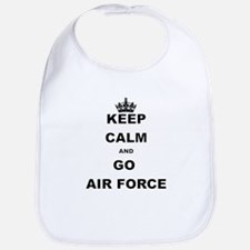 KEEP CALM AND GO AIRFORCE Bib