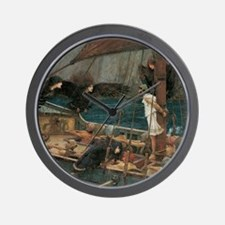 Ulysses and the Sirens by JW Waterhouse Wall Clock