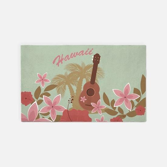 Vintage Hawaiian 3'x5' Area Rug