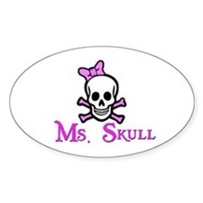 Ms. Skull Oval Decal