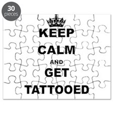 KEEP CALM AND GET TATTOOED Puzzle