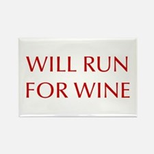will-run-for-wine-OPT-RED Magnets
