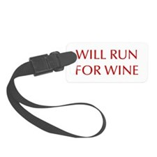 will-run-for-wine-OPT-RED Luggage Tag