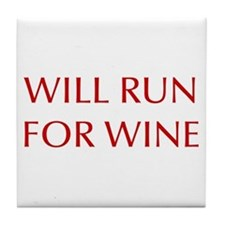 will-run-for-wine-OPT-RED Tile Coaster