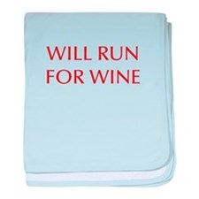 will-run-for-wine-OPT-RED baby blanket