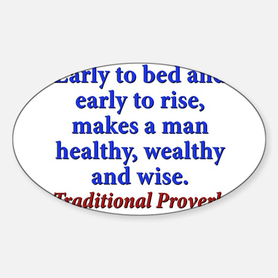 Early To Bed - Traditional Sticker (Oval)