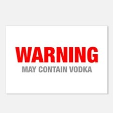 warning-VODKA-HEL-RED-GRAY Postcards (Package of 8