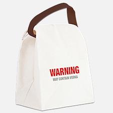 warning-VODKA-HEL-RED-GRAY Canvas Lunch Bag