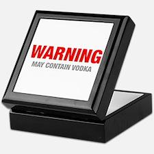 warning-VODKA-HEL-RED-GRAY Keepsake Box