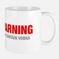 warning-VODKA-HEL-RED-GRAY Mugs