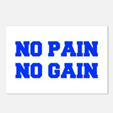 NO-PAIN-FRESH-BLUE Postcards (Package of 8)