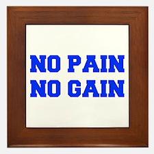 NO-PAIN-FRESH-BLUE Framed Tile