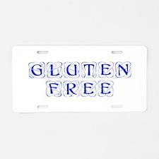 gluten-free-KON-BLUE Aluminum License Plate