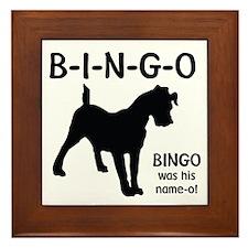 B-I-N-G-O Framed Tile
