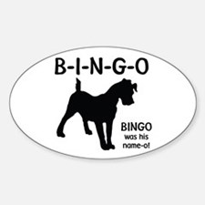 B-I-N-G-O Oval Decal