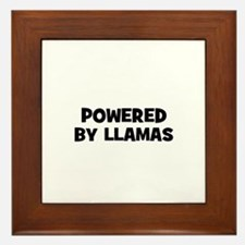 powered by llamas Framed Tile
