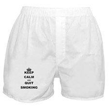 KEEP CALM AND QUIT SMOKING Boxer Shorts
