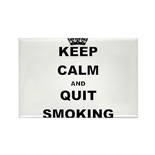 KEEP CALM AND QUIT SMOKING Magnets